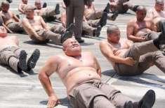 Belly Destruction – Thailand Sends Overweight Policemen to Fat Camp