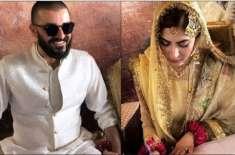 اداکار حمزہ علی عباسی اور نمل خاور نکاح کے بندھن میں بندھ گئے
