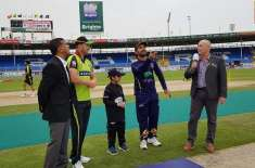 Quetta Gladiators win the toss and elect to field first