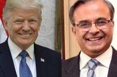 امریکہ میں پاکستان کے نئے سفیر ڈاکٹر اسد مجید کی امریکی صدر ڈونلڈ ٹرمپ ..