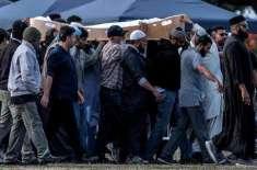 سانحہ کرائسٹ چرچ میں شہید 8 پاکستانیوں کی نیوزی لینڈ  میں تدفین کر دی ..