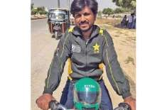 Unemployed domestic cricketer forced to ride a motorcycle From our eyes, the children of poor families will not come to ..