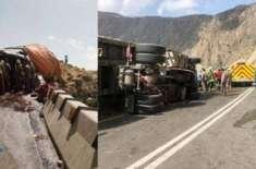 جدہ میں ٹرک اُلٹنے سے پاکستانی شدید زخمی ہو گیا