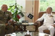 پاک بحریہ کے سربراہ ایڈمرل ظفر محمود عباسی سے اٹلی کے سیکرٹری جنرل ..