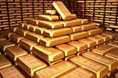 بین الاقومی گولڈ مارکیٹ میں فی اونس سونے کی قیمت میں8ڈالرکا اضافہ