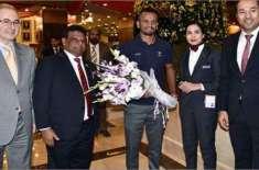 پاکستان میں 10 سال بعد ٹیسٹ کرکٹ کی واپسی، سری لنکن ٹیم پاکستان پہنچ ..