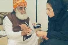 مولانا فضل الرحمان نے اپنے موبائل پر کیا دکھایا تھا، مہر بخاری نے سوشل ..
