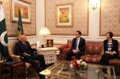 قائم مقام امریکی سفیر پال ڈبلیو جونز کی گورنر پنجاب سے ملاقات