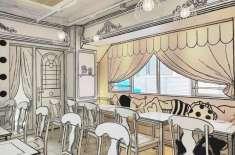 جاپان کا انوکھا کیفے، جہاں داخل ہوتے ہی کلر نگ بک میں ہونے کا گماں ہوتا ..