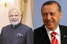 مودی نے طیب اردگان کے مسئلہ کشمیر پر پاکستانی موقف کی حمایت پر ترکی ..