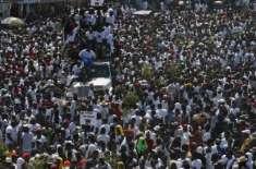 ہیٹی میں صدر کے استعفے کیلئے ہزاروں افراد سڑکوں پر نکل آئے، نظام زندگی ..