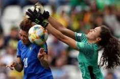 اٹلی اور انگلینڈ کی ٹیمیں ویمنز ورلڈ کپ فٹ بال ٹورنامنٹ پری کوارٹر ..