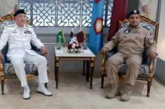 چیف آف دی نیول اسٹاف ایڈمرل ظفر محمود عباسی کی قطری عسکری قیادت سے ملاقات