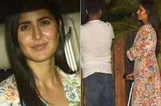 کترینہ کیف زخمی ہونے کے باوجود فلم 'گلی بوائے' دیکھنے پہنچ گئیں ،چھڑی ..