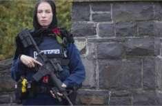 کرائسٹ چرچ نیوزی لینڈ میں حجاب اوڑھے خاتون پولیس اہلکار کی تصویر وائرل