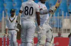 The first Test, Sri Lanka scored 89 runs without loss at lunch Karunaratne was on the crease with 57 and Fernando 26