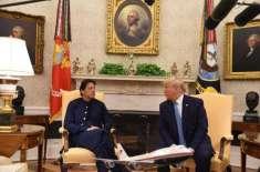عمران خان اور ٹرمپ کی ملاقات، امریکی صدر کی مسئلہ کشمیر پر ثالثی کی ..