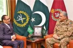 آرمی چیف جنرل قمر جاوید باجوہ سے سعودی نائب وزیردفاع کی ملاقات