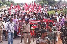 انٹرنیشنل ٹریڈ یونین آف کنفیڈریشن کی کال پر ہندوستان میں مزدوروں ..