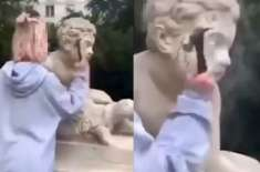 Polish Model Smashes Centuries-Old Statue with Hammer for Instagram Video