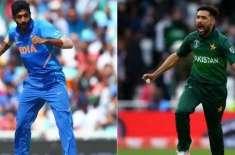 ورلڈ کپ پاکستان بمقابلہ بھارت، محمد عامر اور جسپریت بمرا کی جنگ قرار
