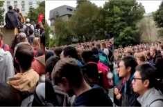 کرائسٹ چرچ سانحہ کے بعد برطانوی میں طلبا اذان سننے جمع ہو گئے