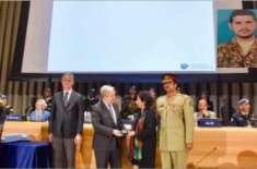 اقوام متحدہ نے کانگو میں شہید پاکستانی فوجی کے لیے اعزاز دے دیا