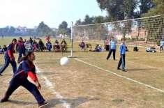 والی بال 'پشاور یونیورسٹی کی ٹیم فائنل میں پہنچ گئی