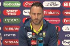 Faf du Plessis Blames IPL as South Africa Exit World Cup