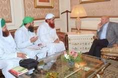 دعوت اسلامی کے وفد کی گورنر پنجاب چوہدری محمد سرور سے ملاقات
