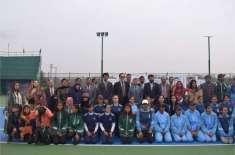 آل پاکستان انٹر یونیورسٹیز وویمنز ٹینس چمپئن شپ کا اسلام آباد میں ..