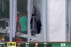 Shoaib Malik breaks window glasses with sixes in GT20 Canada