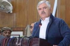 وزیراعلیٰ خیبرپختونخوا کی زیر صدارت ضم شدہ اضلاع کے سینیٹرز اور ایم ..