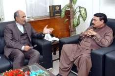 شیخ رشید احمد سے ایرانی سفیر کی ملاقات ،