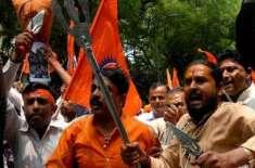 بھارت:آرایس ایس کے غنڈوں کا گائے ذبخ کرنے کے الزام میں عیسائیوں پر حملہ