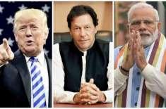 بھارت نے امریکہ سے مسئلہ کشمیر کے حل کے لیے ثالث بننے کی درخواست دینے ..