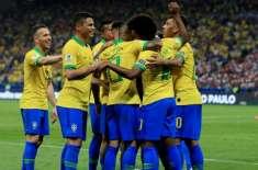 کوپا امریکہ فٹ بال کپ میں کل پہلا کوارٹر فائنل میچ کھیلا جائے گا، برازیل ..