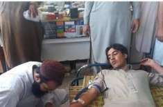باڑہ بازار میں حمزہ فاؤنڈیشن کی جانب سے بلڈ کیمپ کا انعقاد