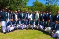 وزیر اعظم سے ورلڈ کپ کیلئے منتخب قومی ٹیم کے کھلاڑیوں کی ملاقات ،