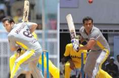 Salman Khan plays a fabulous game of cricket on Bharat sets