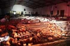 جنوبی افریقہ میں بارش سے گرجا گھر کی چھت گر گئی، 13 افراد ہلاک،29زخمی