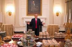 Donald Trump serves McDonald's feast after White House chefs walk out