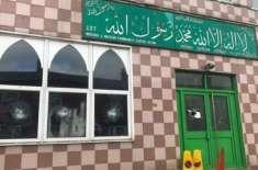 برطانیہ میں ہتھوڑا بردار شخص کی چار مساجد کے بیرونی حصے میں توڑ پھوڑ