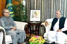 صدر مملکت ڈاکٹر عارف علوی سے گورنر خیبر پختونخوا شاہ فرمان کی ملاقات