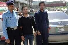 اسلام آباد،کینیڈین ماڈل کو ہراساں کرنے والے دوافراد گرفتار