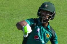 I told my sweet friend Shadab that i will score a 50 on this tour and yes i have done it. Hassan Ali to Mike Haysman
