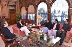 وزیراعظم عمران خان سے مسلم لیگ ق کے صدر چودھری شجاعت کی ملاقات