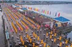 7127 فنکاروں نے ایک ساتھ لوک رقص کر کے نیا عالمی ریکارڈ بنا لیا