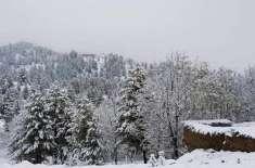 آزاد کمشیر میں پہاڑوں نے ماہِ اکتوبرمیں برف کی سفید چادر اوڑھ لی