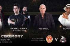 Junoon and Pitbull to headline PSL 4 opening ceremony
